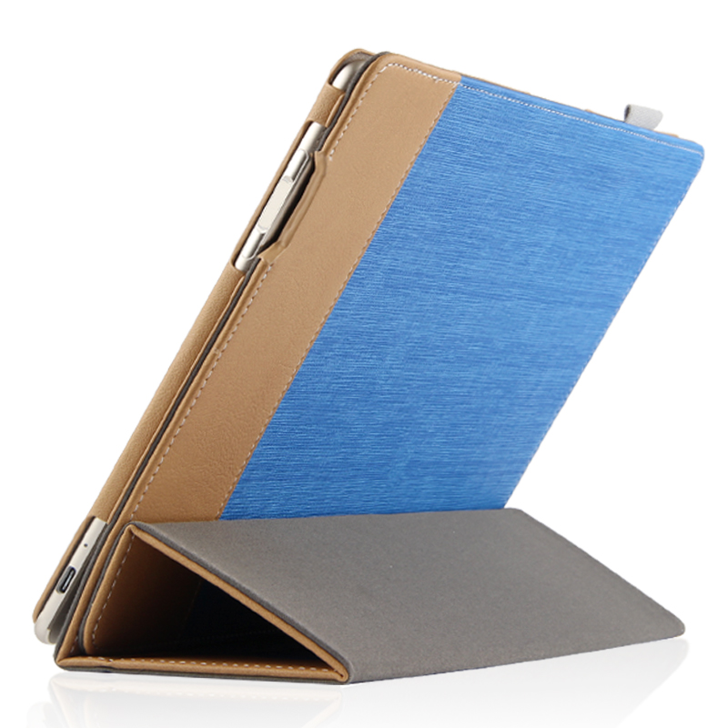 Ultra Slim 3-Folder Canvas Folio Stand PU Leather Shell Cover Protective Case For Huawei MateBook E BL-W09 BL-W19 12 inch Tablet luxury print fold stand pu leather skin magnetic closure case protective cover for huawei matebook hz w09 hz w19 12 inch tablet