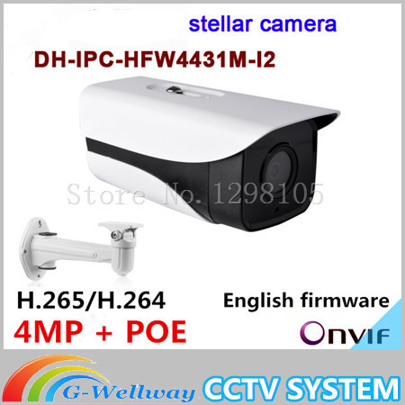 Original Dahua stellar camera 4MP Dahua-IPC-HFW4431M-I2 Network IP IR Bullet H265 H264 IPC-HFW4431M-I2 with brackets цена