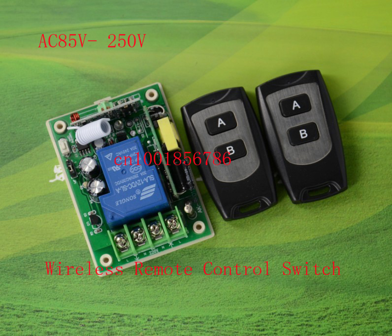 AC110V Remote Control Switch LED Light Lamp Remote ON OFF System Learning Transmitter Momentary Toggle Latched adjusted 315/433