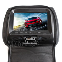 With Zipper Cover 7 Inch Car Headrest Monitor PU LED Digital Screen Pillow Monitor MP5 Player & SD And USB Functions SH7048 MP5