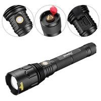 LED Flashlight 5 Modes Metal Waterproof Torch Lamp Durable Bright Light With Hammer For Car Emergency Self Defense