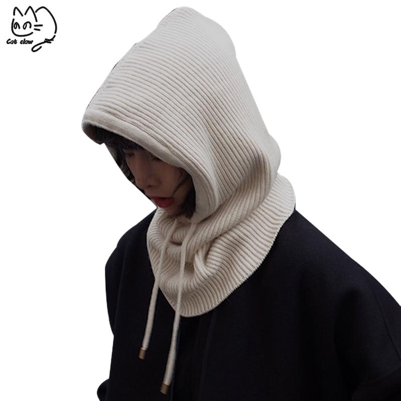2019 NEW Spring Winter Wool Knitted Scarf Hat Set   Beanie   Women Scarf   Skullies     Beanies   Hats For Women Men Caps Gorras Bonnet Mask