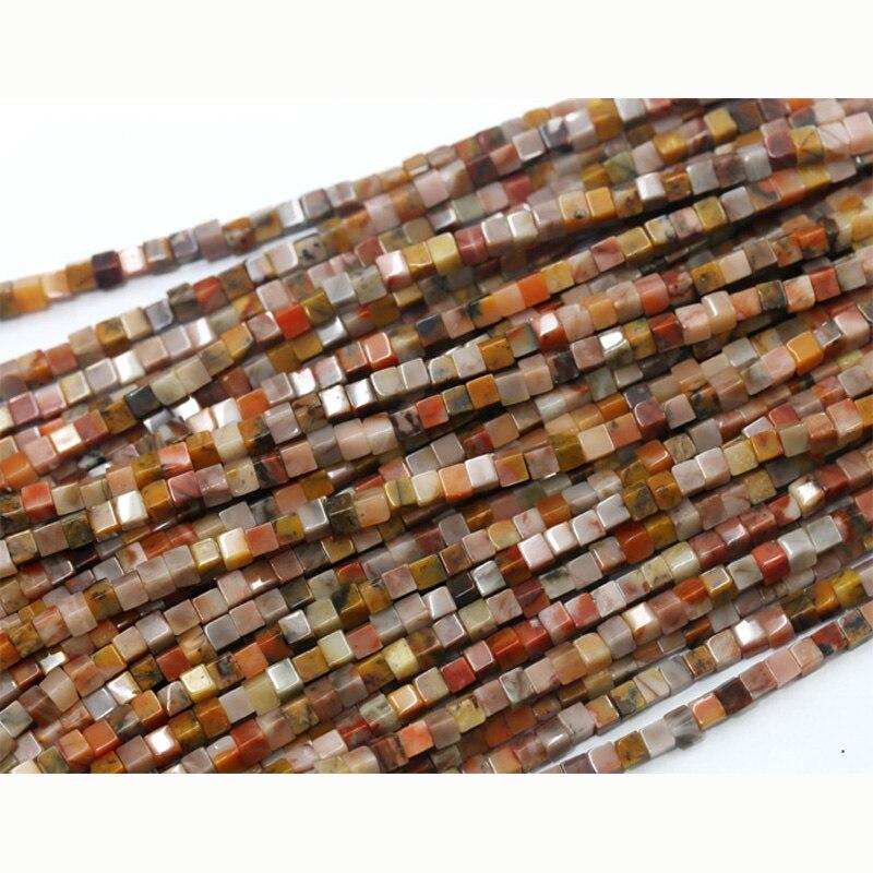Commercio all'ingrosso Genuine Arancione Autunno Jasper Piazza di Forma Rettangolare Stone Beads Loose Fit Gioielli FAI DA TE Collane o Bracciali 03707