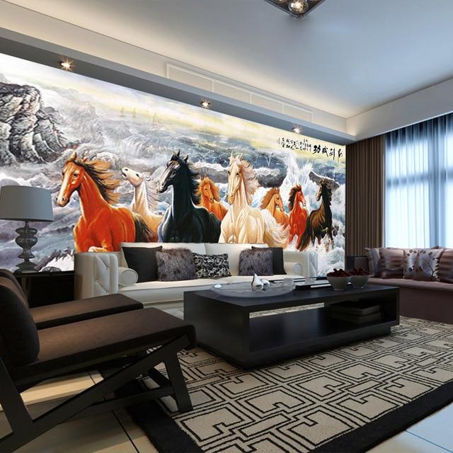 Hervorragend Galoppierendes Pferd Malerei Wandbild 3D Wallpaper Kundenspezifische Tier  Foto Tapete Schlafzimmer Jungen Kinder Schlafzimmer Room Decor