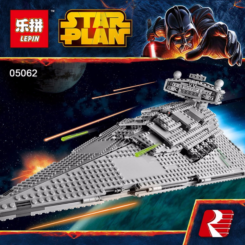 In Stock Lepin 05062 1359pcs Genuine New Star War Series The Imperial Star Destroyer Set 75055 Building Blocks Bricks Toys lepin 05028 3208pcs star wars building blocks imperial star destroyer model action bricks toys compatible legoed 75055