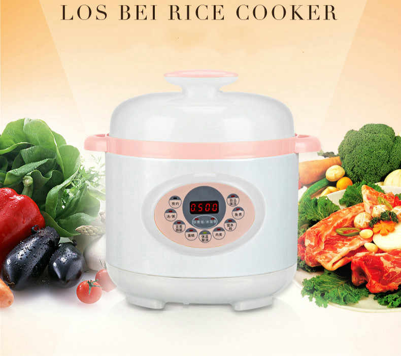 Pressure Cooker Listrik 2L Pressure Cooker Listrik 1-2 Orang Mini Kompor Baru