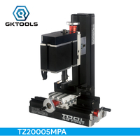 TZ20005MPA DIY Electroplated BigPower מכונת כרסום מתכת מיני, 60 W 12000r/min מנוע, סטנדרטי חינוך ילדים, מתנה.
