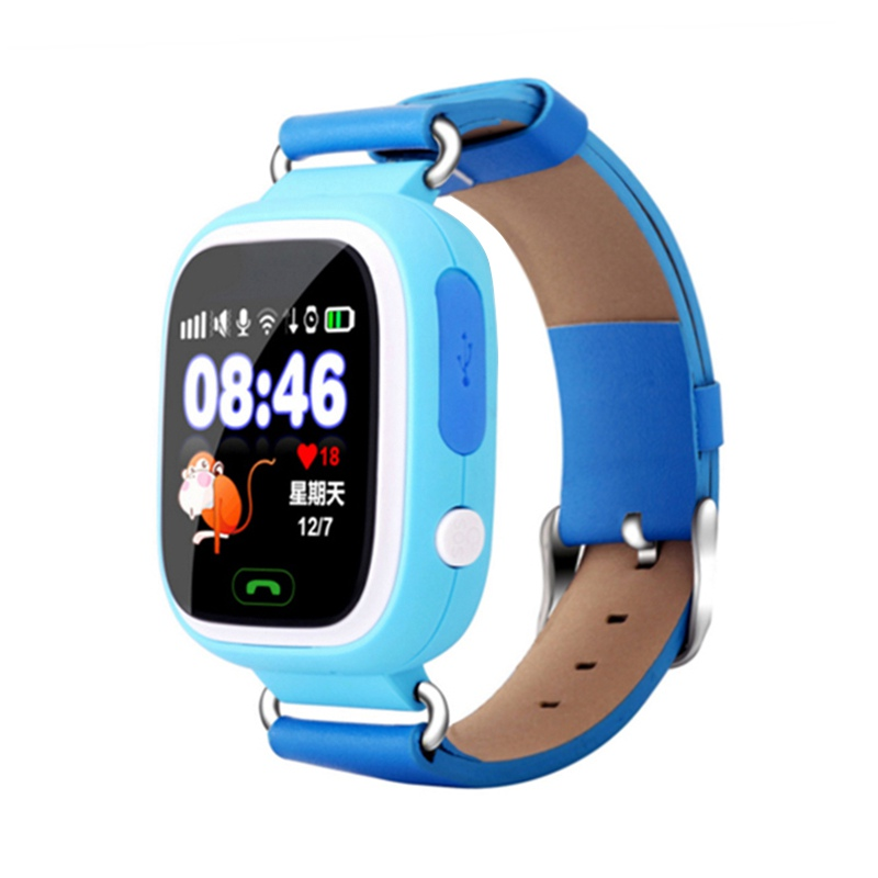 Fashion Q90 GPS Phone Positioning Children Watch 1.22 Inch Color Touch Screen WIFI SOS Smart Watchs