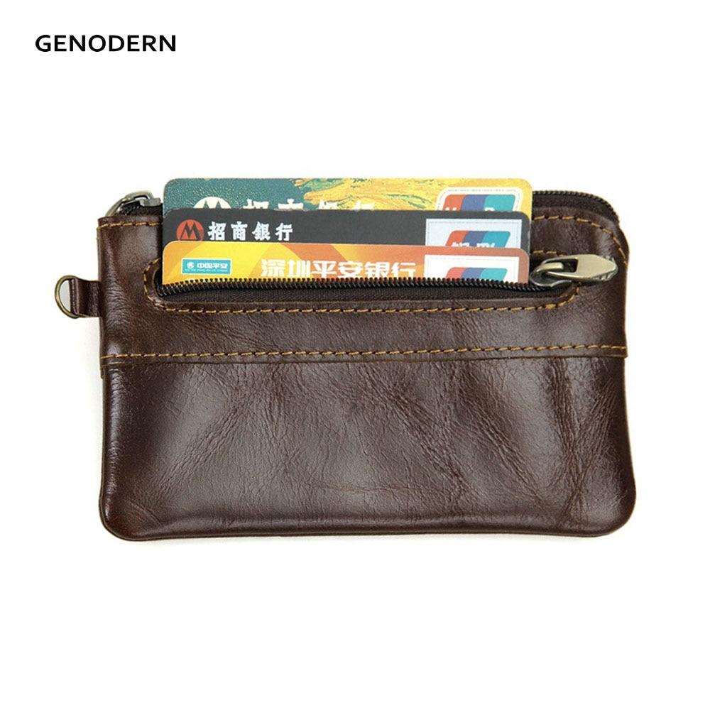 Genodern Slim Card Holder With Key Ring Coin Pocket Men S Credit