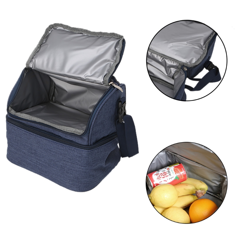 Newest Soft Sided Dual Compartment Cooler Insulated Bag Double Decker Large Lunch Box коробка для мушек snowbee slit foam compartment waterproof fly box large