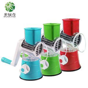Image 2 - Manual Vegetable Cutter Slicer Kitchen Tool Multi functional Round Mandoline Slicer Potato Cheese