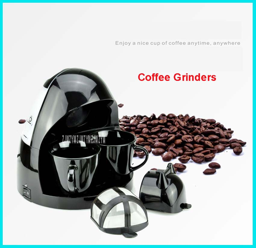 220V/50Hz Fully Automatic Coffee Machine 2 Cups Coffee Machine for American Coffee Machines food grade PP material C-001 250ml tsk 1948a 220v 50hz fully automatic coffee machine cups coffee machine for american coffee machines food grade pp material 0 6l