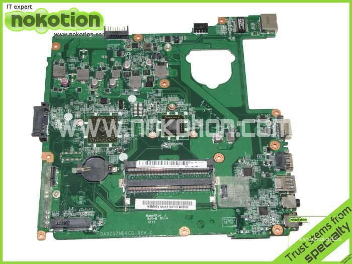 NOKOTION NBM0Z11001 DA0ZQZMB6C0 Laptop Motherboard For Acer Aspire E1-421 Onboard DDR3 NB.M0Z11.001 Mainboard Mother Boards laptop motherboard fit for acer aspire 3820 3820t notebook pc mainboard hm55 48 4hl01 031 48 4hl01 03m