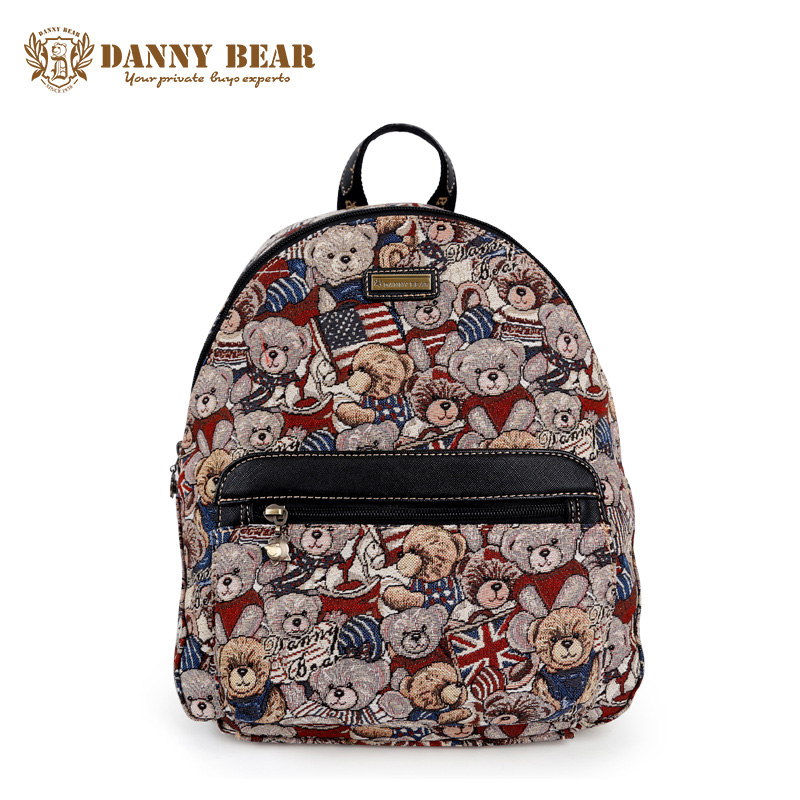 DANNY BEAR Teenager Girls Vintage High School Backpack Women Fashion Large Backpacks Korean Notebook Back Pack Travel Daypacks sosw fashion anime theme death note cosplay notebook new school large writing journal 20 5cm 14 5cm