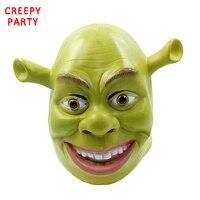 グリーンシュレックラテックスマスクムービーコスプレ大人動物パーティーマスクリアルな仮装プロップ仮装パーティーハロウィンマスク