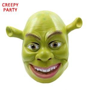 Green Shrek Latex Masks Movie