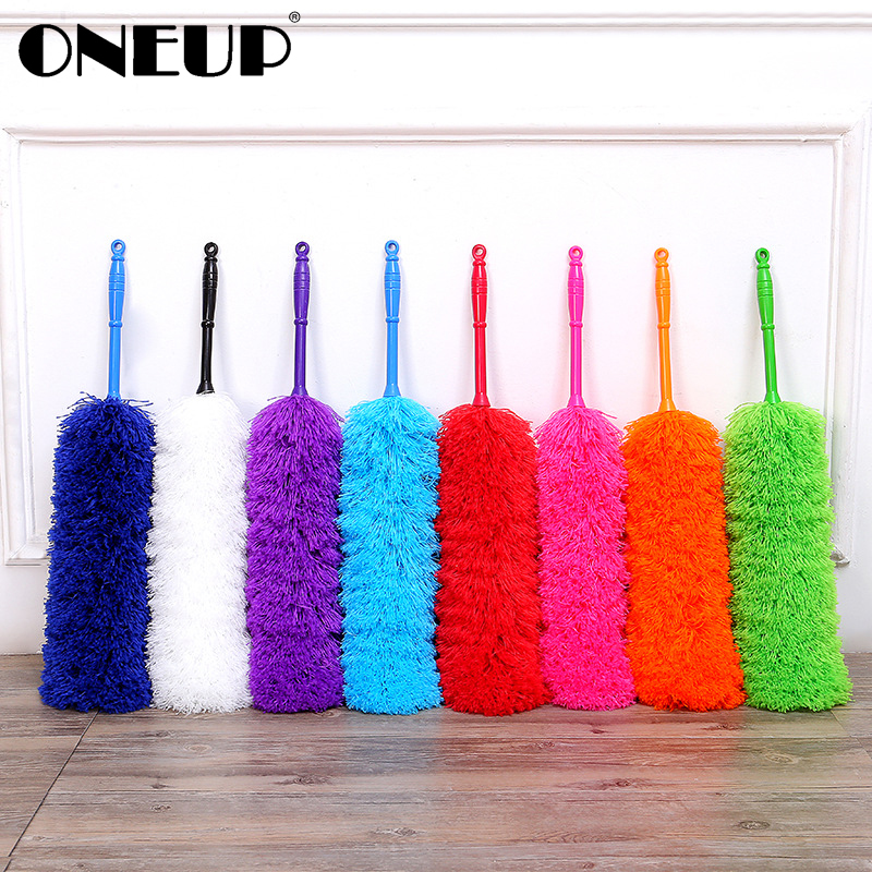 ONEUP Soft Microfiber Duster Brush Feather Dust Static Anti Dusting Brush Household Cleaning Air-condition Car Furniture Cleaner