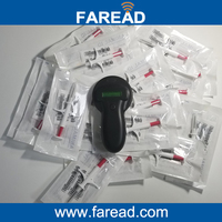 X1pc 134 2KHz Pet Microchip Portable RFID Scanner X20pcs 2 12 12mm RFID Microchip Capsule Syringe