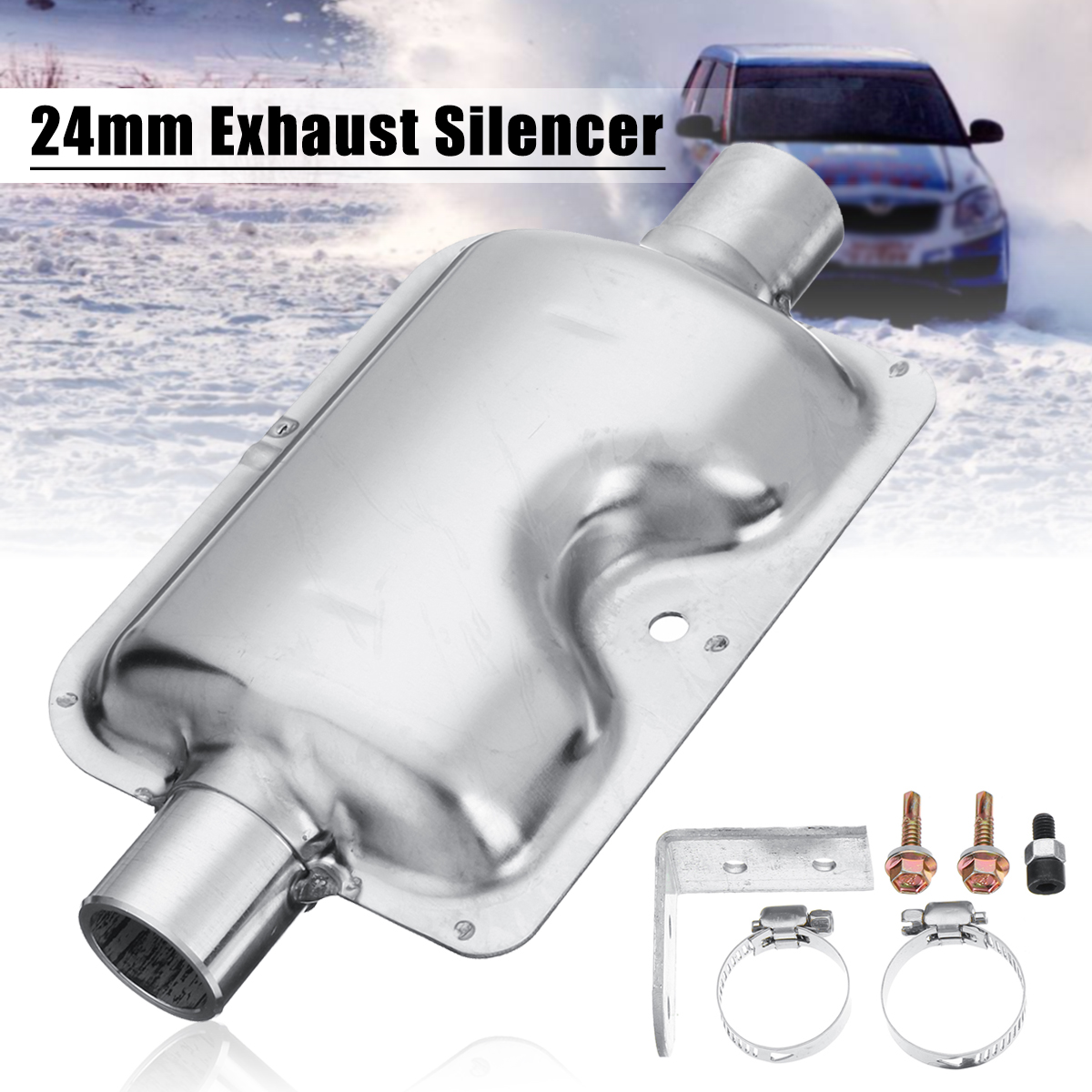 24mm/0.9inch Car Truck Portable Pipe Silencer Exhaust Muffler Clamps Bracket for Webasto Ebespacher Diesel Heater high quality intake silencer and exhaust muffler for air parking heater