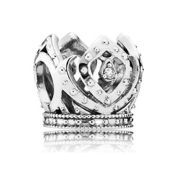 ロングステートメントクリスタル花火愛ハートクラウンフクロウ模擬真珠のペンダントチャームビーズフィットパンドラファッションブレスレットバングル Diy ジュエリー