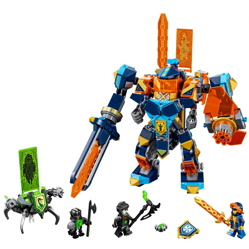 LEPIN 14043 567pcs Nexus Knights Series Future high tech magic Ares Model Building Block set Brick Toy For children Gift 72004