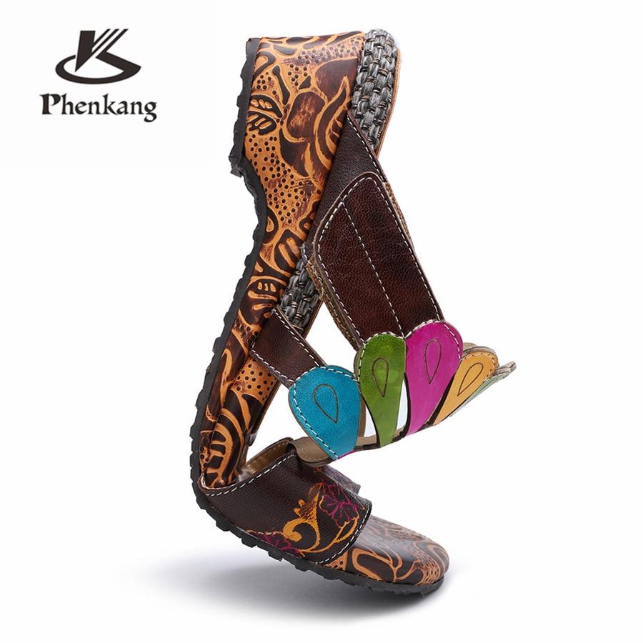 Gladiador Primavera Oxford Alto Mujer De Cuero Mujeres La Genuino Las Zapatos Verano Para Tacón Brown 2019 Oxfords Sandalias x0Zqw7zw8