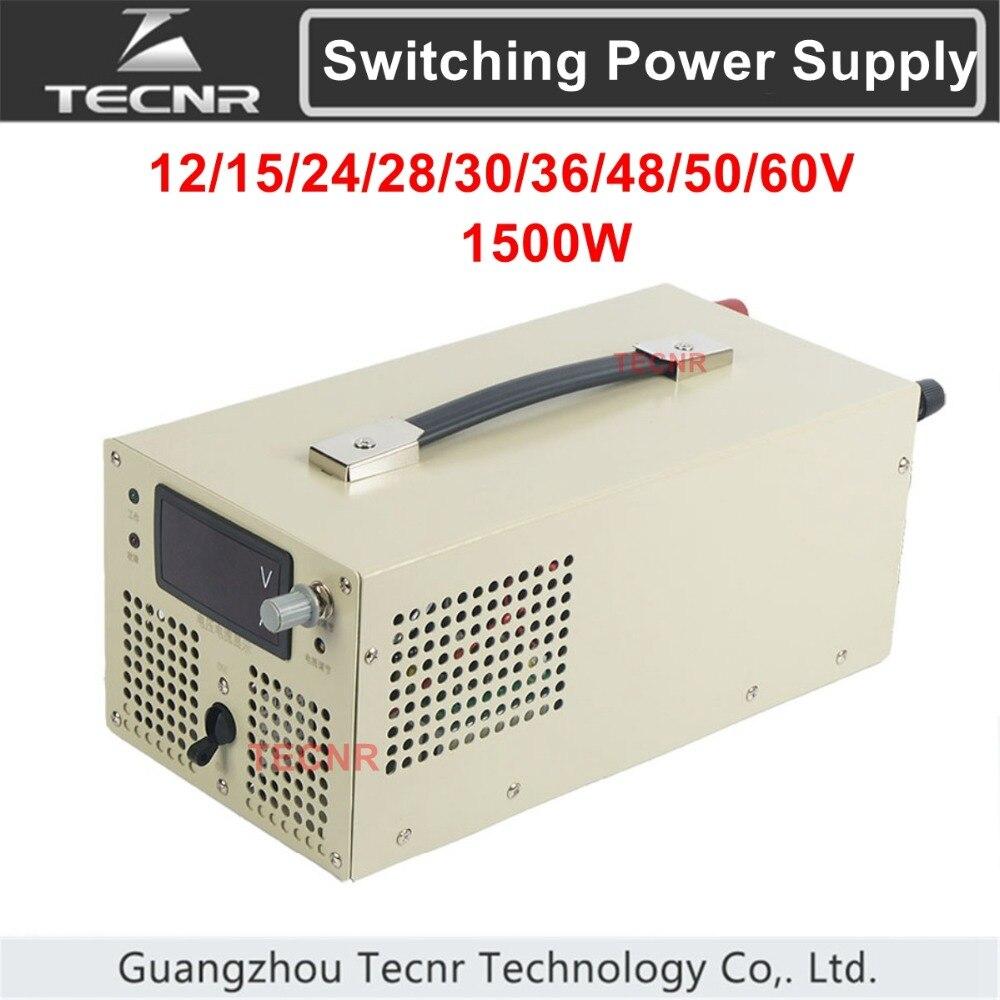TECNR ajustable transformateur d'alimentation à découpage DC 15 V 24 V 30 V 36 V 48 V 50 V 60 V 80 V 110 V 150 V 220 V 1500 W tension constante