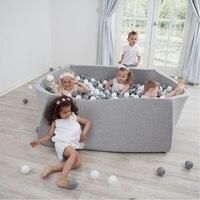 Piscina De Bolinhas bebê-INS Hot Infantil Esponja Bolas Pit Esgrima Cercadinho Quadrado Macio Brinquedos Para As Crianças Do Berçário Play Toy Presente para quarto Das Crianças dos miúdos
