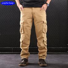 Cotton Mens Jogger Autumn Hot sale army style men cargo pants Men Camouflage Military Pants Loose Comfortable Trousers jogger цена
