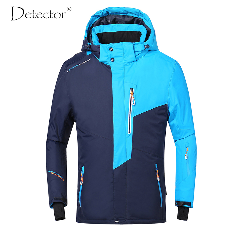 Detector Men Ski Jacket Winter Snowboard Suit Men's Outdoor Warm Waterproof Windproof Breathable Clothes detector new waterproof windproof hiking camping outdoor jacket winter clothes outerwear ski snowboard jacket men