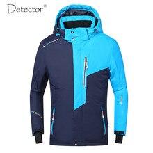 Detector masculino jaqueta de esqui inverno snowboard terno ao ar livre quente impermeável à prova de vento respirável roupas