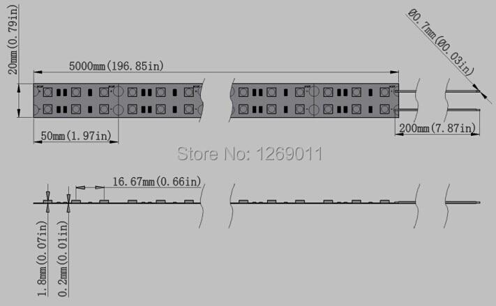 0,5Мметрлер DC12V SMD5050-600-IR InfraRed 850нм / 940нм - LED Жарықтандыру - фото 3
