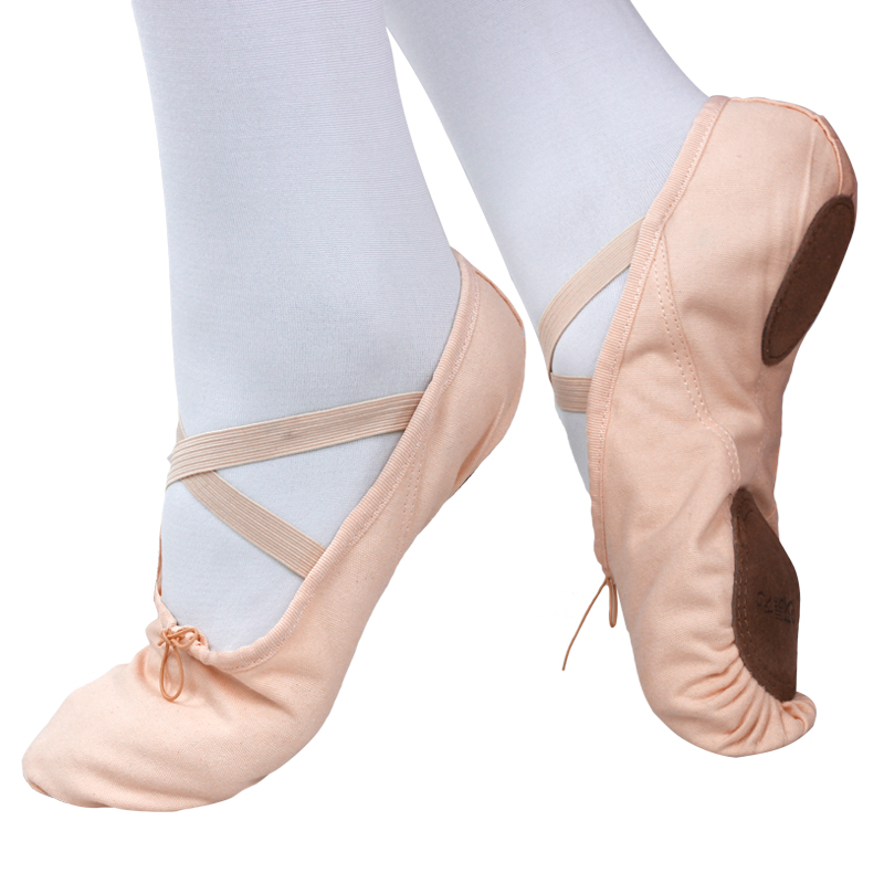 Picture of Women Professional Canvas Ballet Dance Shoes Soft Cow Leather Sole Chlidren Ballet Shoes Yoga Shoes Modern Dance Shoes Girls