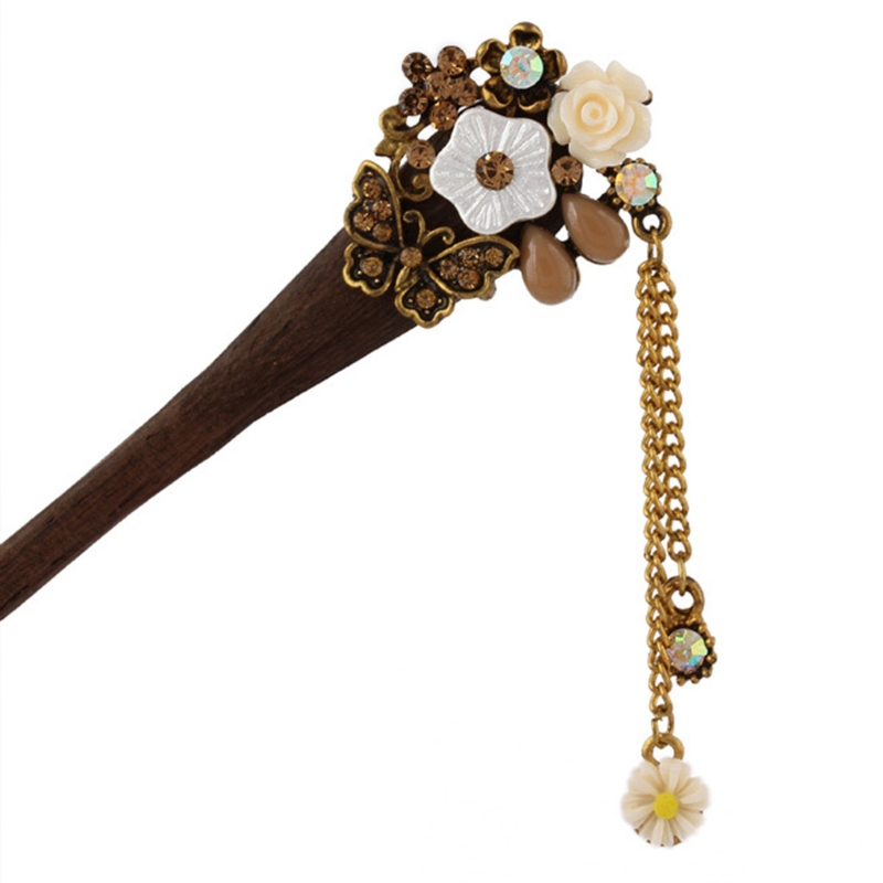 Retro Traditional Wooden Hairpin