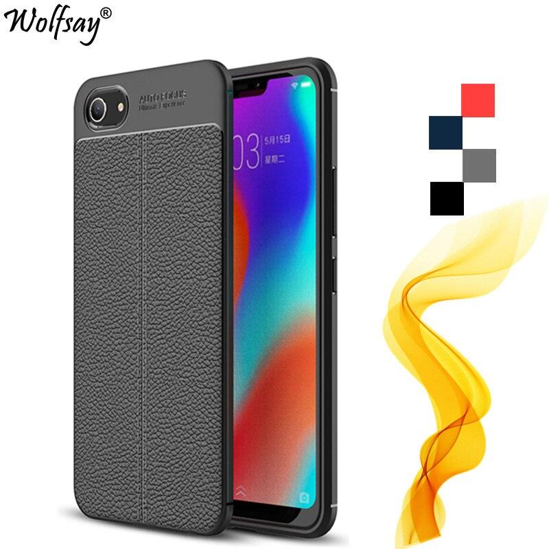 Wolfsay Case BBK Vivo Y81 Case Vivo Y81 Litchi Silicone Leather Pattern Phone Cover For Vivo Y81 Cover Fundas For Vivo Y81 Coque