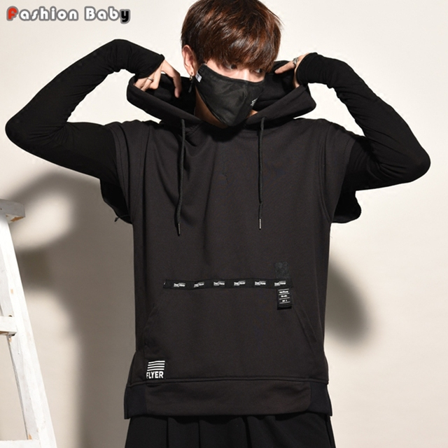 85b49349 Men's Letter Design Autumn Sleeveless Hoodies Unique Kangaroo Pocket Fashion  Loose Casual Hooded Sweatshirts 2017 New
