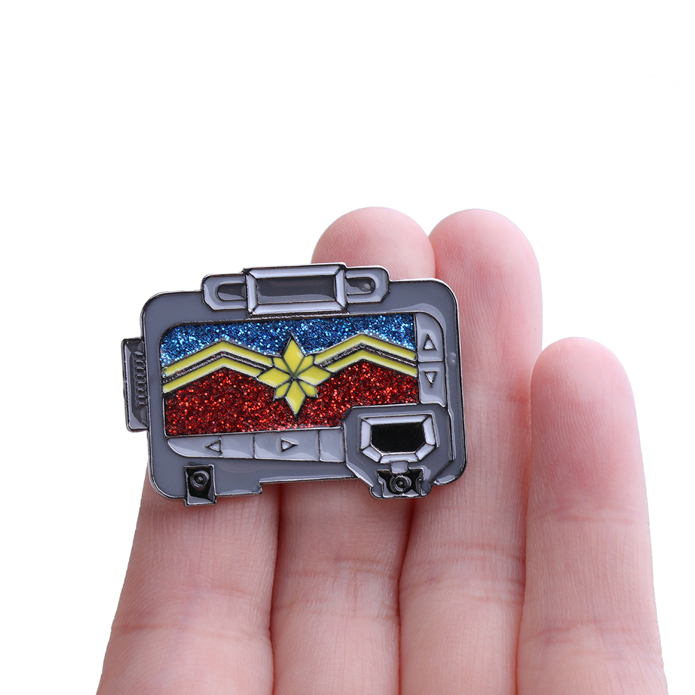 Captain Marvel Pager Brooch Women Enamel Pin Vintage Pins Infinity War Jewelry Gift the Avengers Lapel
