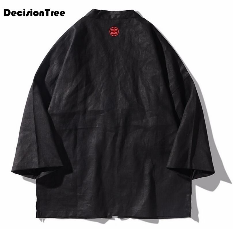 2019 été japonais kimono cardigan hommes longue carpe imprimé floral kimono cardigan hommes blanc japon kimono hommes