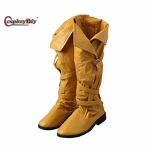 Cosplaydiy Game The Witcher 3: Wild Hunt Cirilla Shoes Adult Women Halloween Cosplay Accessories Custom Made J5(China)