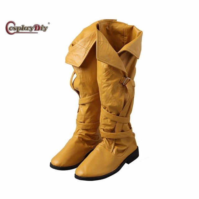 45db9e7019 Cosplaydiy Game The Witcher 3  Wild Hunt Cirilla Shoes Adult Women  Halloween Cosplay Accessories Custom Made J5