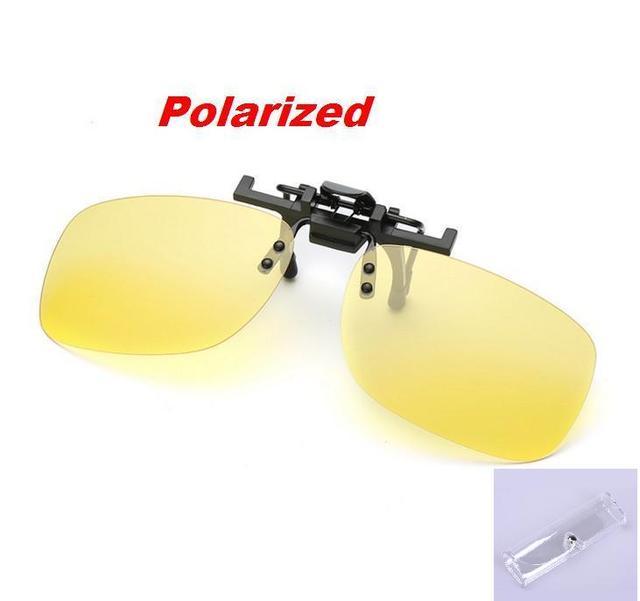 8c78b5340f6e1 N44 Caixa Livre Clipe Polarizada Em Óculos De Sol Dos Homens de Alta  Qualidade óculos De sol Dos Homens de Condução óculos de Visão Noturna  Lente Amarela ...