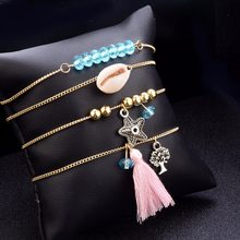 DIEZI Bohemian Shell Starfish Tree Charm Bracelets Bangles For Women Fashion Beads Strand Bracelets Sets Jewelry Party Gifts(China)