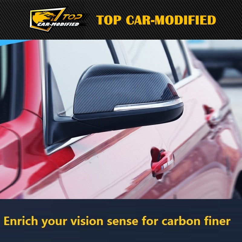 Free shipping Carbon Fiber rearview mirror covers caps fit for BMW 3 Series 3GT 2013 up