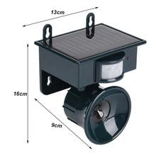 Eco-Friendly Solar Powered Motion Sensor Ultrasonic Pest Repeller Bird Dog Cat Repeller Control for Garden Yard