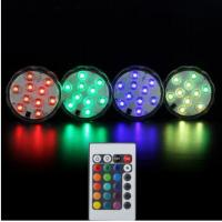 1 Remote 4 Lights 10led RGB Underwater Light Pond Submersible IP67 Waterproof Swimming Pool Light Battery
