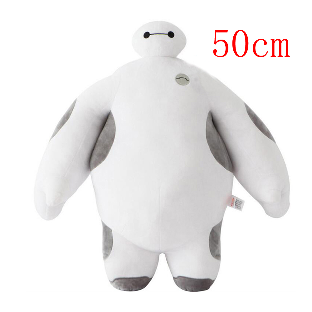 Elsadou 50cm Big Hero 6 Baymax Plush Toy Doll 150cm the big hero 6 plush toys big size baymax plush dolls movies