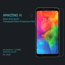 For LG Q7 Tempered Glass NILLKIN Amazing H Tempered Glass Screen Protector Film Nano-Coated Tempered Film For LG Q7 onext tempered glass для lg class h650e защитная