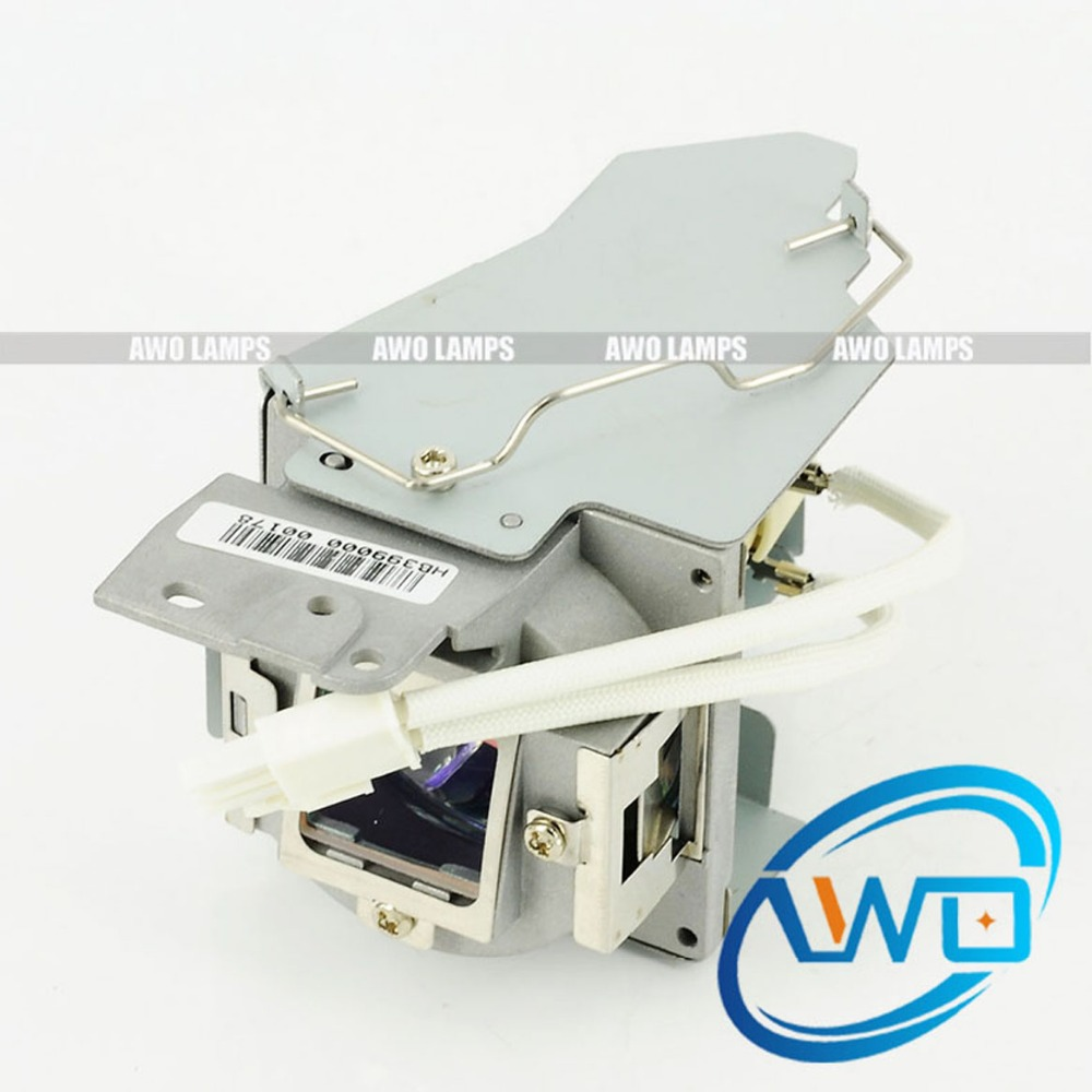 AWO Factory New Original 5J.JAD05.001 Projector Lamp with Housing for BENQ MW824ST original 5j 08001 001 projector lamp with housing for benq mp511