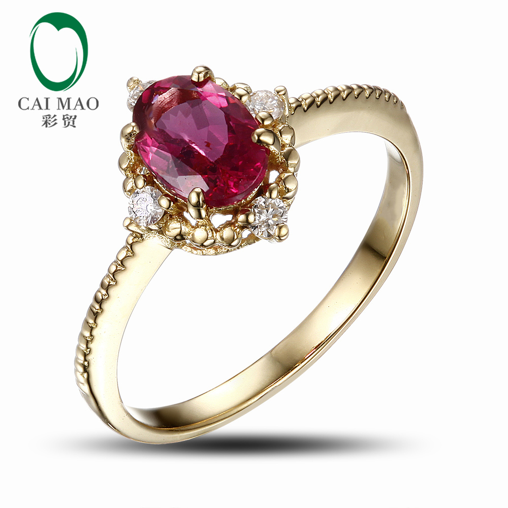 Caimao Jewelry 18k Yellow Gold Natural 1 68ct Pink