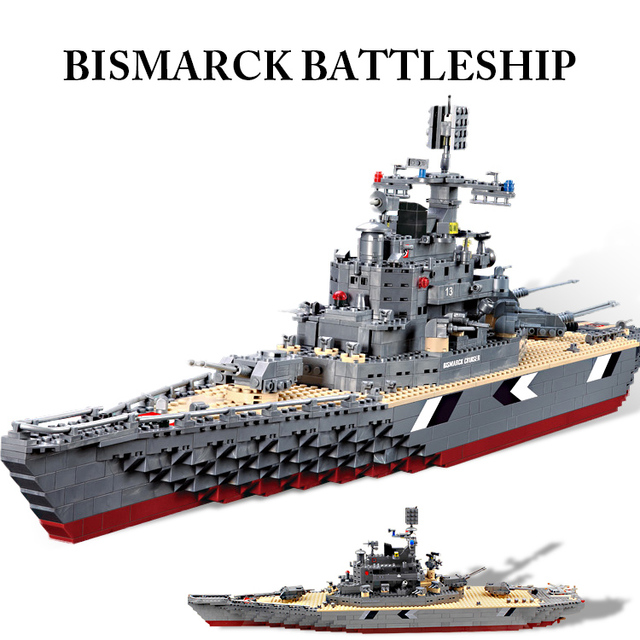 bismarck cruiser the german navy battleship warship building blocks